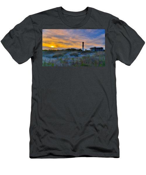 Sullivan's Island Lighthouse At Dusk - Sullivan's Island Sc Men's T-Shirt (Athletic Fit)
