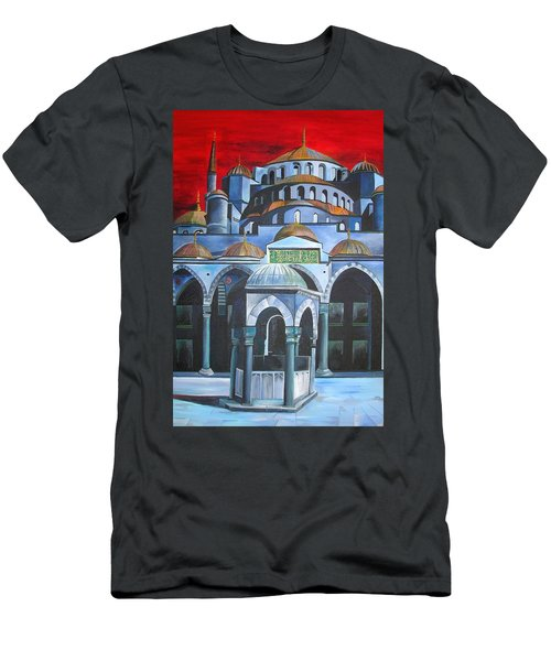 Sultan Ahmed Mosque Istanbul Men's T-Shirt (Slim Fit) by Tracey Harrington-Simpson