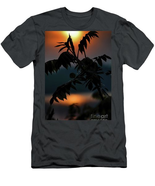 Sumac Sunrise Silhouette Men's T-Shirt (Slim Fit) by Henry Kowalski