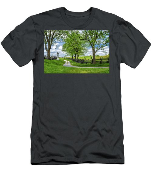 Men's T-Shirt (Athletic Fit) featuring the photograph Summer At Antietam National Battlefield by Lori Coleman