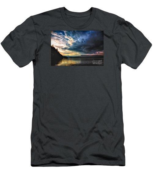 Summer At Lake James Men's T-Shirt (Slim Fit) by Robert Loe