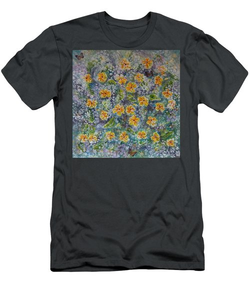 Spring Bouquet Men's T-Shirt (Slim Fit) by Theresa Marie Johnson