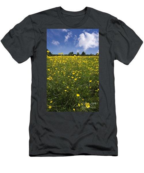 Summer Buttercups Men's T-Shirt (Athletic Fit)