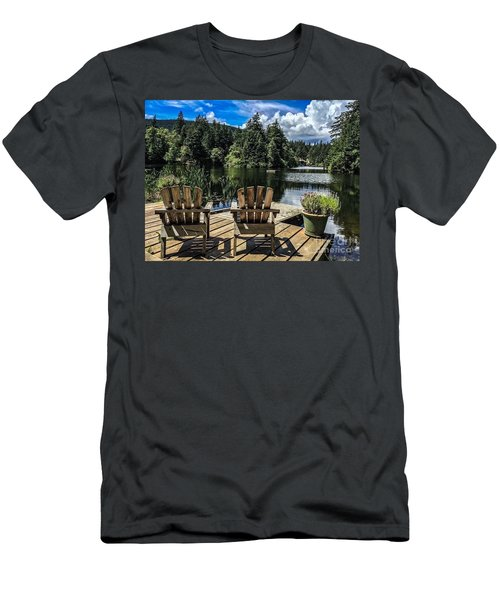 Summer By Eagle Lake Men's T-Shirt (Athletic Fit)