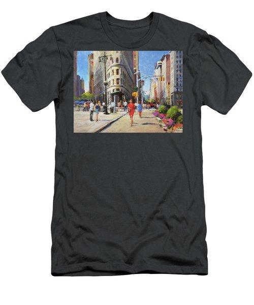Summer Morning At Flatiron Plaza Men's T-Shirt (Athletic Fit)