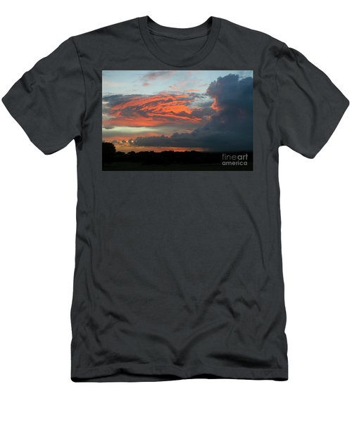 Summer Sky On Fire  Men's T-Shirt (Athletic Fit)