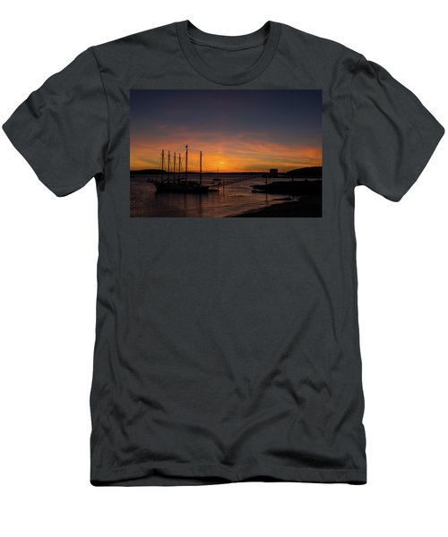 Summer Sunrise In Bar Harbor Men's T-Shirt (Athletic Fit)