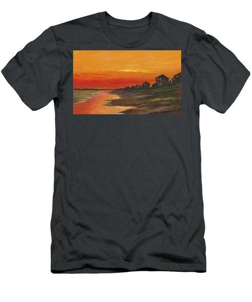 Summer Sunset At  Crystal Beach Men's T-Shirt (Athletic Fit)