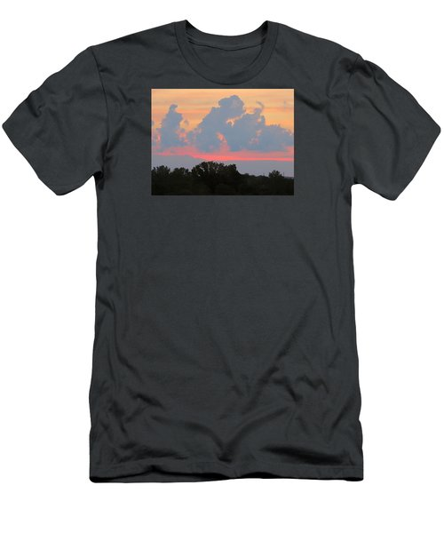 Men's T-Shirt (Slim Fit) featuring the photograph Summer Sunset In Missouri by Robin Regan