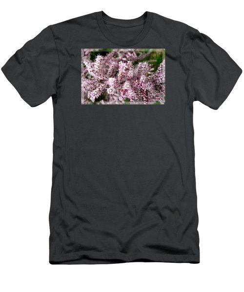 Men's T-Shirt (Slim Fit) featuring the photograph Summer Tamarisk by Jean Bernard Roussilhe