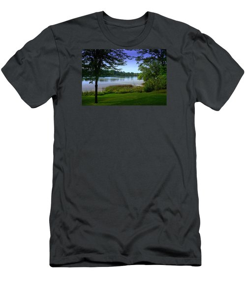 Men's T-Shirt (Slim Fit) featuring the photograph Summer's End by Judy  Johnson