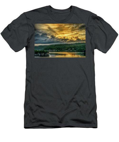 Summersville Lake Sunrise Men's T-Shirt (Athletic Fit)
