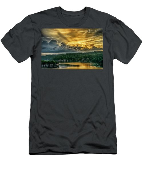 Summersville Lake Sunrise Men's T-Shirt (Athletic Fit)