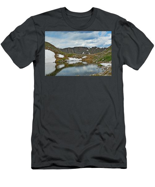 Summit Lake In Summer Men's T-Shirt (Athletic Fit)