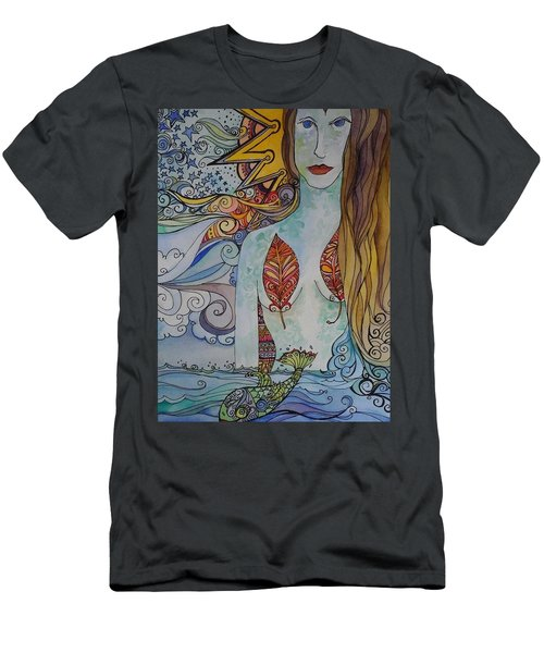 Sun And Sea Godess Men's T-Shirt (Slim Fit) by Claudia Cole Meek