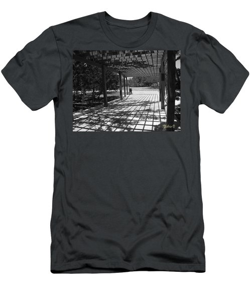 Sun Checkerboard  Men's T-Shirt (Athletic Fit)