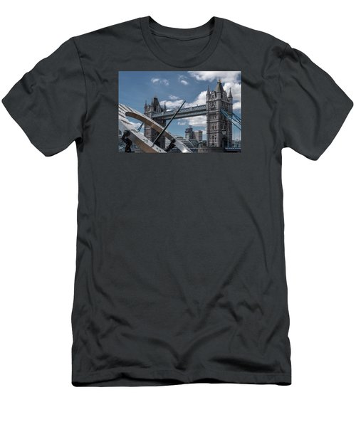 Sun Clock With Tower Bridge Men's T-Shirt (Athletic Fit)