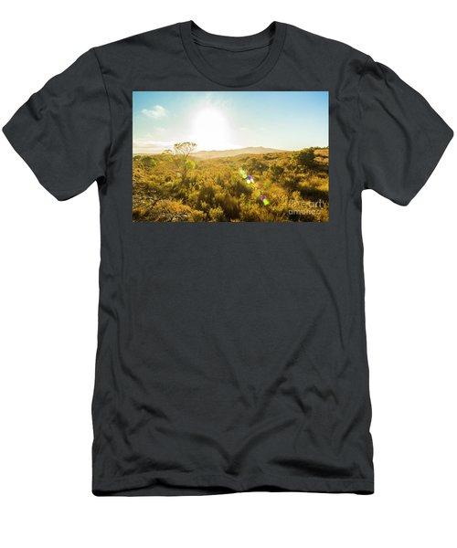 Sun Flare Prairie  Men's T-Shirt (Athletic Fit)