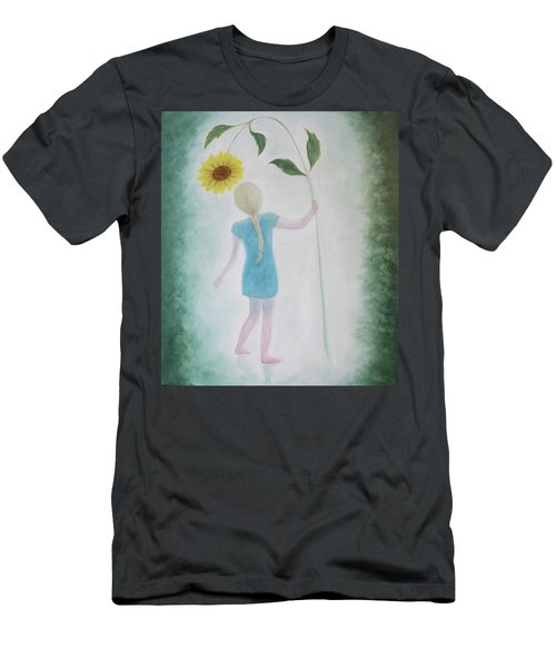 Sun Flower Dance Men's T-Shirt (Athletic Fit)