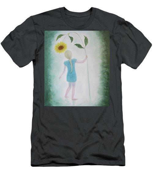 Sun Flower Dance Men's T-Shirt (Athletic Fit)