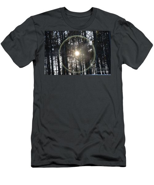 Sun Or Lens Flare In Between The Woods -georgia Men's T-Shirt (Athletic Fit)