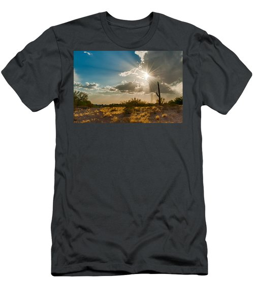 Men's T-Shirt (Athletic Fit) featuring the photograph Sun Rays In Tucson by Dan McManus