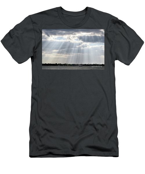 Sun Rays Over Lagoon Men's T-Shirt (Athletic Fit)