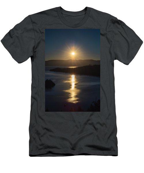 Sun Rising Over Lake Tahoe Men's T-Shirt (Athletic Fit)