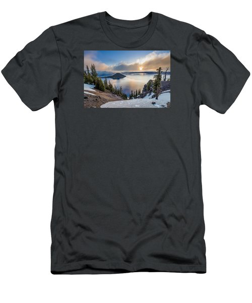 Sun Rising Through Mists Men's T-Shirt (Slim Fit) by Greg Nyquist