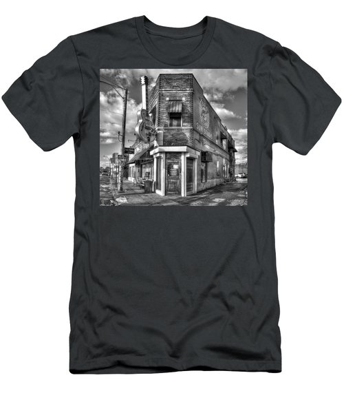 Sun Studio B W The Rock N Roll Birthing Place Memphis Tennessee Art Men's T-Shirt (Athletic Fit)