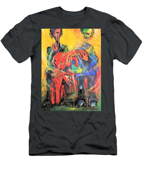 Sun-swirled Hope And Salvation Men's T-Shirt (Athletic Fit)
