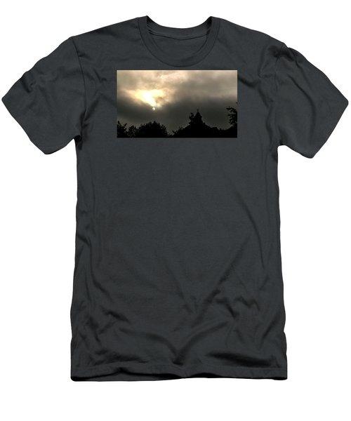 Sun Through Fog Men's T-Shirt (Slim Fit) by Carlee Ojeda