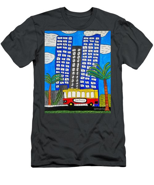 Sun Trolley Men's T-Shirt (Slim Fit) by Brandon Drucker
