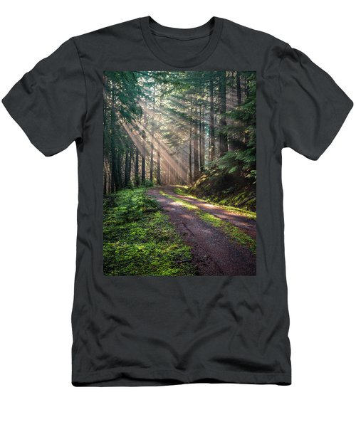 Sunbeam In Trees Portrait Men's T-Shirt (Athletic Fit)