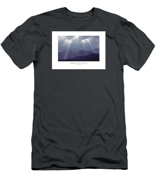 Men's T-Shirt (Athletic Fit) featuring the digital art Sunbeams Over Derwent by Julian Perry
