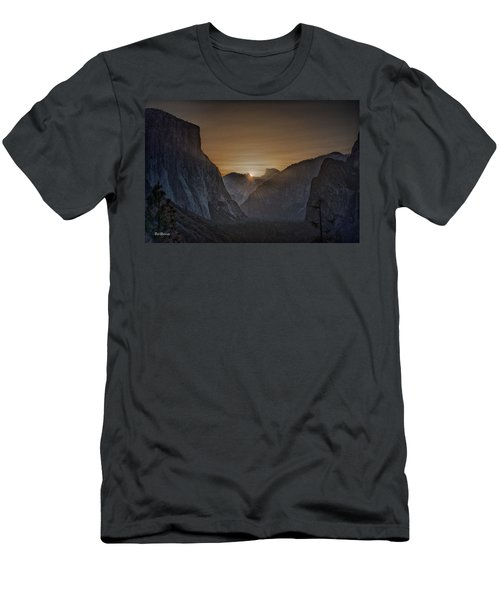 Sunburst Yosemite Men's T-Shirt (Slim Fit) by Bill Roberts
