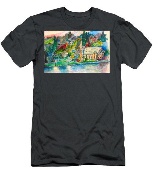 Sunday Evening In Skaneateles Ny Men's T-Shirt (Athletic Fit)