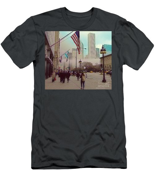 Men's T-Shirt (Slim Fit) featuring the photograph Sunday In The City by Kathie Chicoine