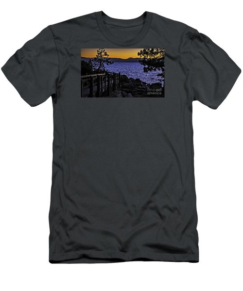 Sundown At Sand Harbor Men's T-Shirt (Slim Fit) by Nancy Marie Ricketts