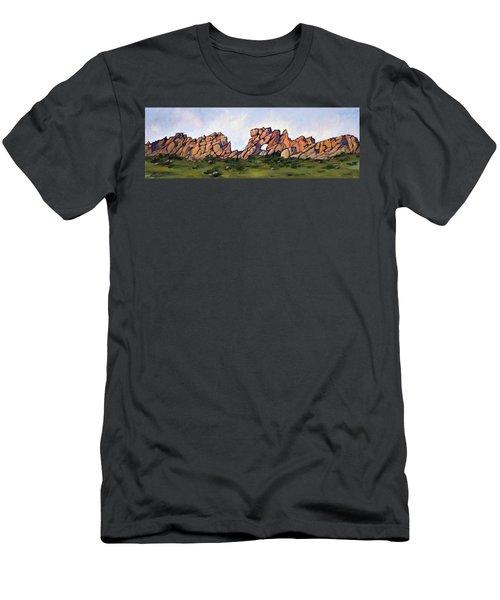 Sundown At The Backbone Men's T-Shirt (Athletic Fit)