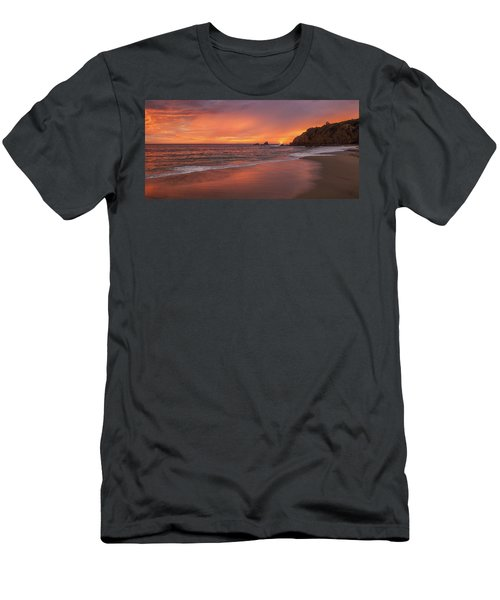 Sundown Over Crescent Beach Men's T-Shirt (Athletic Fit)