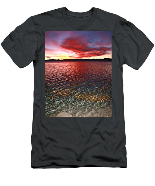 Men's T-Shirt (Athletic Fit) featuring the photograph Sundown...the Water's Edge by Sean Sarsfield