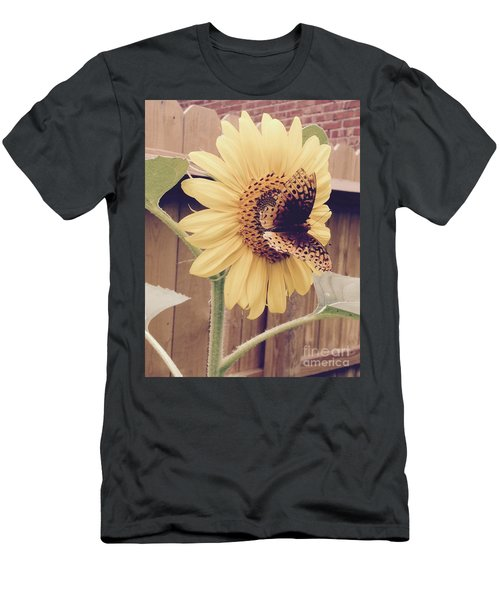 Sunflower And Butterfly Men's T-Shirt (Athletic Fit)