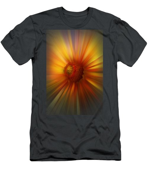 Sunflower Dawn Zoom Men's T-Shirt (Slim Fit) by Debra and Dave Vanderlaan