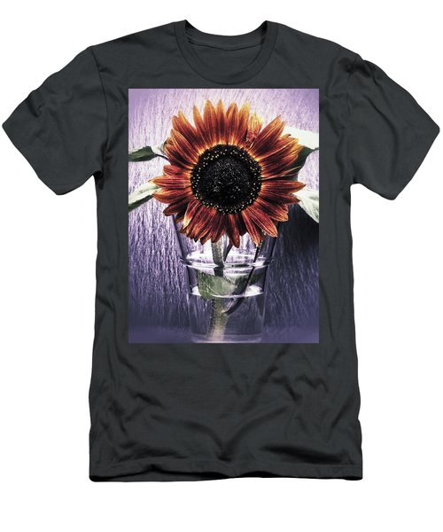 Sunflower In A Cup Men's T-Shirt (Slim Fit) by Karen Stahlros