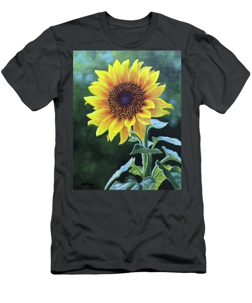Sunflower Men's T-Shirt (Slim Fit) by Janet King