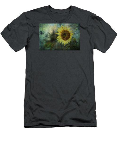 Sunflower Sea Men's T-Shirt (Slim Fit) by Belinda Greb