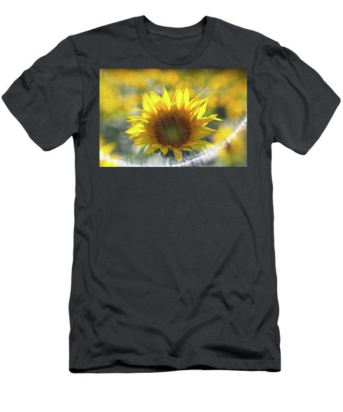 Sunflower With Lens Flare Men's T-Shirt (Athletic Fit)