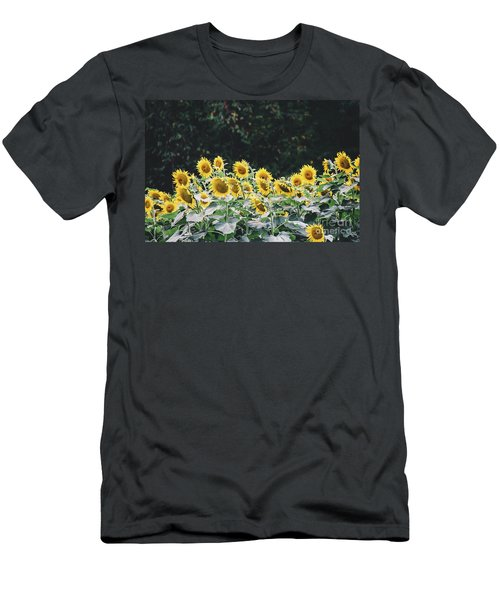 Men's T-Shirt (Athletic Fit) featuring the photograph Sunflowers 7 by Andrea Anderegg
