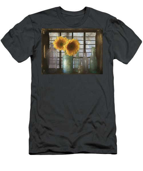 Sunflowers And Bottles Men's T-Shirt (Athletic Fit)